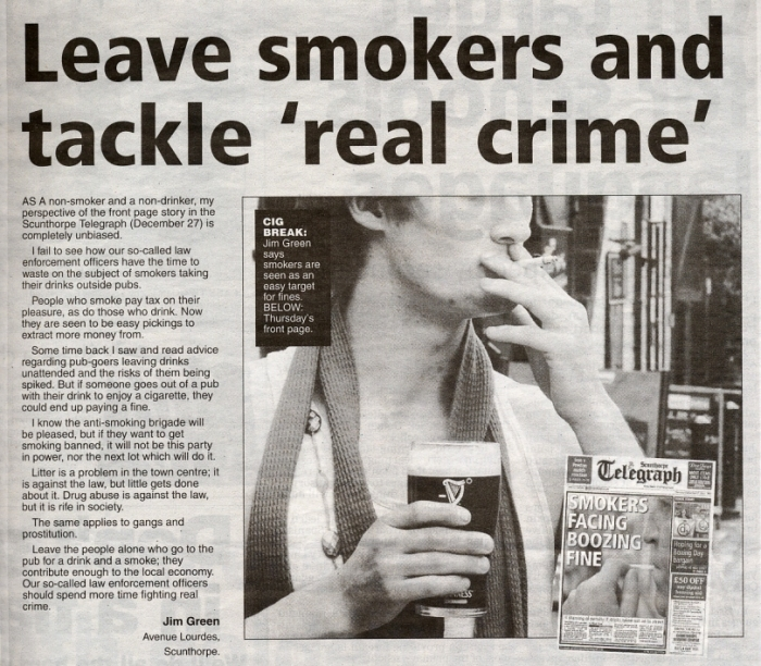 Leave Smokers & Tackle Real Crime
