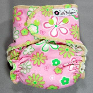 SALE Medium Fitted ~ Lime/Pink Fun Floral ~ 20% off!